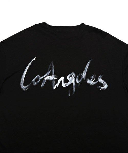 LUXSTYLE(ラグスタイル)/手書き風スター&ロゴプリントビッグ半袖Tシャツ/Tシャツ メンズ 半袖 手書き風 プリント ビッグシルエット/pm-8611_img13