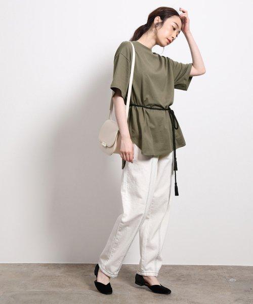 ROPE'(ロペ)/【ロープベルト付き】オーバーサイズTシャツ/GGM39430_img14