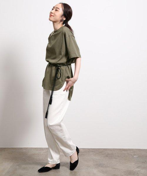 ROPE'(ロペ)/【ロープベルト付き】オーバーサイズTシャツ/GGM39430_img15