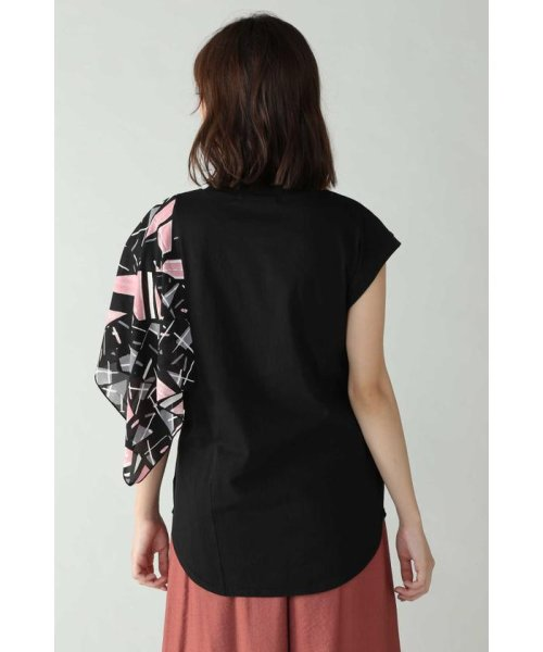 ROSE BUD(ローズバッド)/アシメトリースカーフプリント柄Tシャツ/6019213020_img04