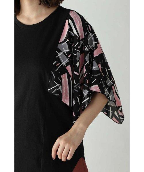 ROSE BUD(ローズバッド)/アシメトリースカーフプリント柄Tシャツ/6019213020_img06