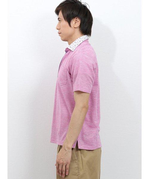TAKA-Q(タカキュー)/リネン混スラブ鹿の子 スキッパー半袖ポロ/110207721603937_img04