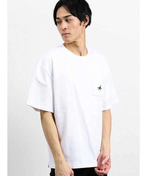 on the day(オンザデイ)/【WEB限定販売】カンゴール/KANGOL ポケット付きロゴ刺繍半袖Tシャツ/110207799814937_img03