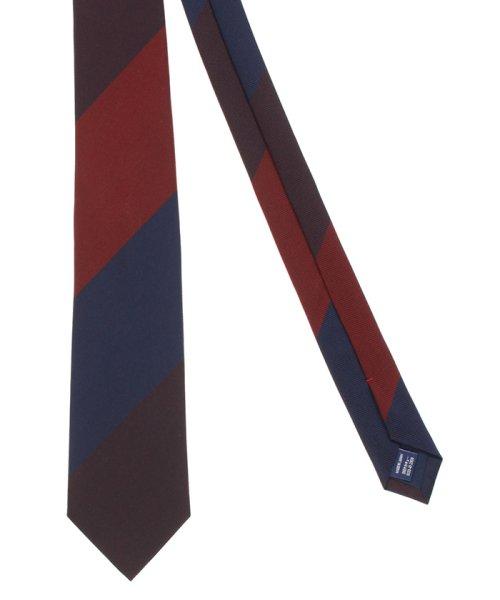 m.f.editorial(エムエフエディトリアル)/mf by FAIRFAX 日本製シルクストライプ レギュラータイ8.0cm幅/110302683759923_img01