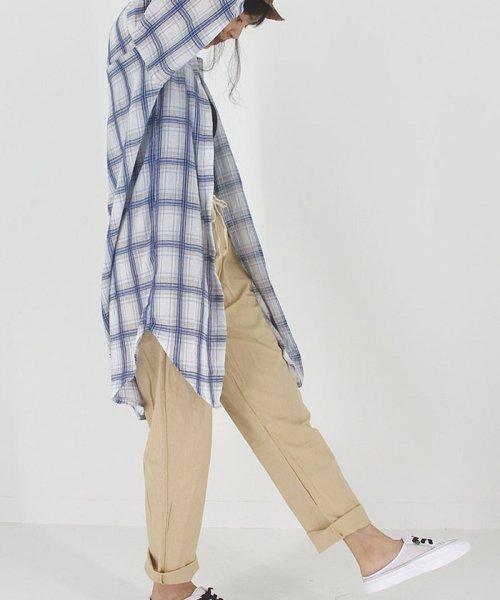miniministore(ミニミニストア)/ジョガーパンツ レディース テーパードパンツ きれいめ クロップドパンツ 綿麻 春夏 即納/YIGE-001_img06