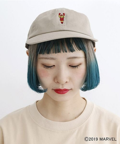 merlot(メルロー)/【MARVEL/マーベル】ワンポイント刺繍キャップ/00010012-819200395004_img06