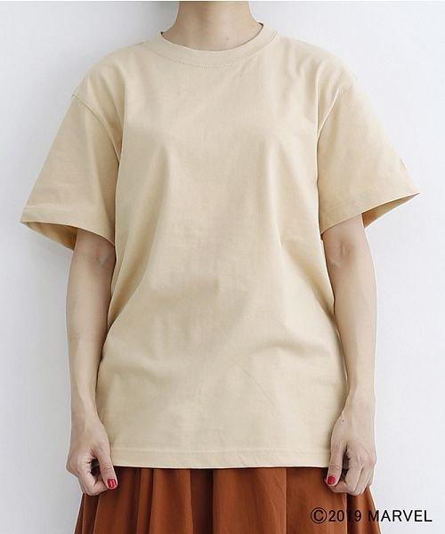 merlot(メルロー)/【MARVEL/マーベル】袖刺繍バックプリントTシャツ/00010012-819290395001_img01