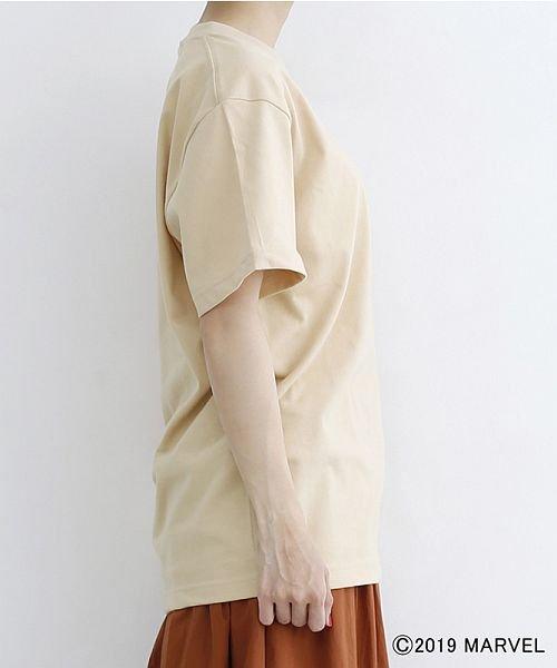 merlot(メルロー)/【MARVEL/マーベル】袖刺繍バックプリントTシャツ/00010012-819290395001_img02