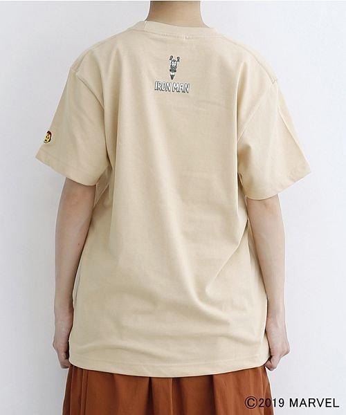 merlot(メルロー)/【MARVEL/マーベル】袖刺繍バックプリントTシャツ/00010012-819290395001_img03