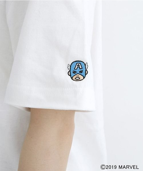 merlot(メルロー)/【MARVEL/マーベル】袖刺繍バックプリントTシャツ/00010012-819290395001_img06
