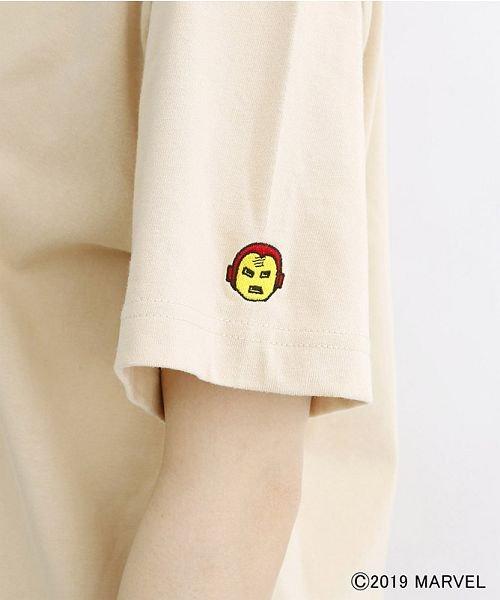 merlot(メルロー)/【MARVEL/マーベル】袖刺繍バックプリントTシャツ/00010012-819290395001_img08