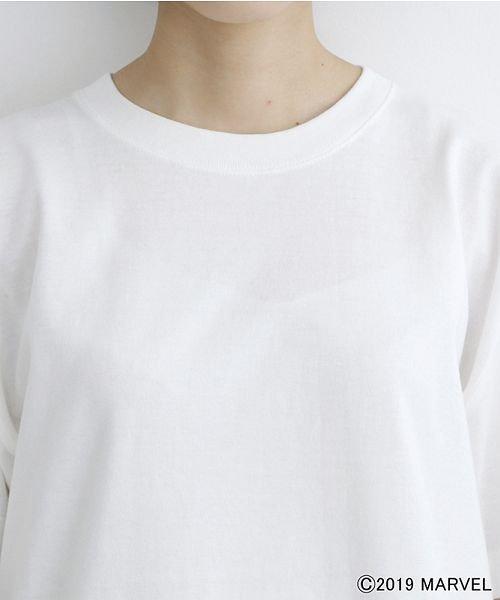 merlot(メルロー)/【MARVEL/マーベル】袖刺繍バックプリントTシャツ/00010012-819290395001_img10