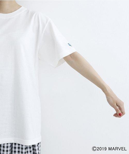 merlot(メルロー)/【MARVEL/マーベル】袖刺繍バックプリントTシャツ/00010012-819290395001_img11