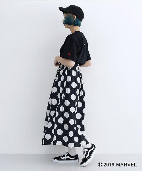 merlot(メルロー)/【MARVEL/マーベル】袖刺繍バックプリントTシャツ/00010012-819290395001_img12