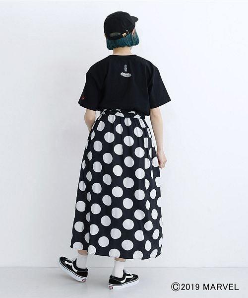 merlot(メルロー)/【MARVEL/マーベル】袖刺繍バックプリントTシャツ/00010012-819290395001_img13