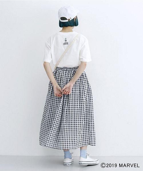 merlot(メルロー)/【MARVEL/マーベル】袖刺繍バックプリントTシャツ/00010012-819290395001_img14