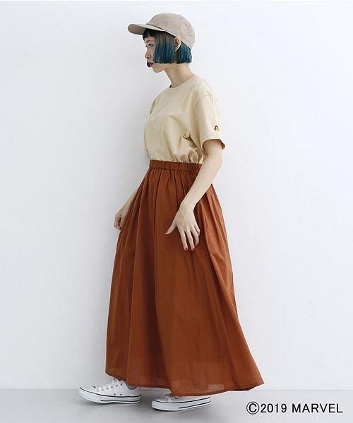 merlot(メルロー)/【MARVEL/マーベル】袖刺繍バックプリントTシャツ/00010012-819290395001_img15