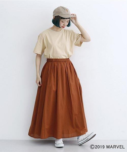 merlot(メルロー)/【MARVEL/マーベル】袖刺繍バックプリントTシャツ/00010012-819290395001_img16