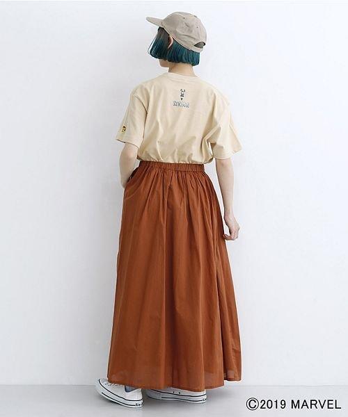 merlot(メルロー)/【MARVEL/マーベル】袖刺繍バックプリントTシャツ/00010012-819290395001_img17