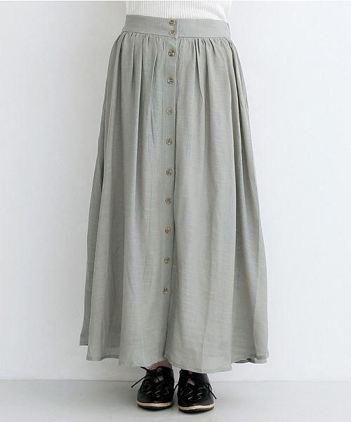 merlot(メルロー)/レーヨンスラブガーゼフロントボタンスカート/00010012-819610527462_img01