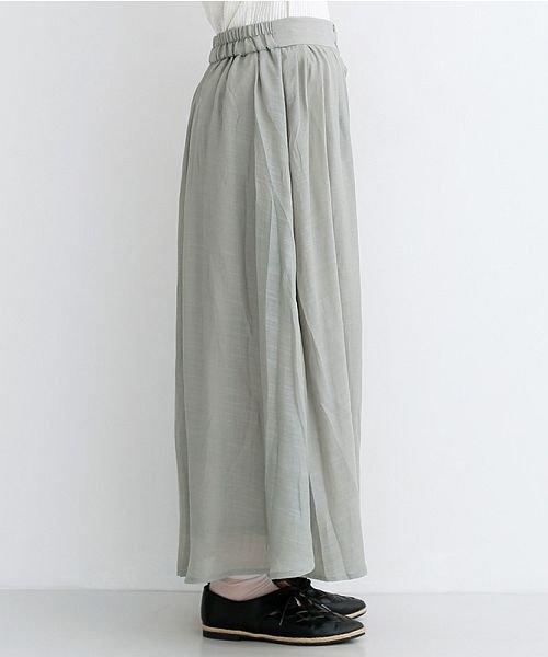 merlot(メルロー)/レーヨンスラブガーゼフロントボタンスカート/00010012-819610527462_img02