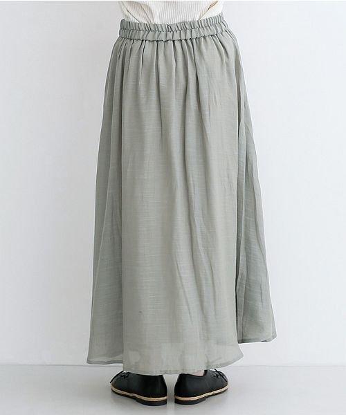 merlot(メルロー)/レーヨンスラブガーゼフロントボタンスカート/00010012-819610527462_img03