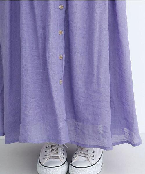 merlot(メルロー)/レーヨンスラブガーゼフロントボタンスカート/00010012-819610527462_img04