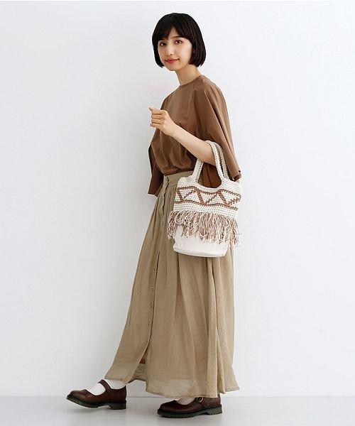 merlot(メルロー)/レーヨンスラブガーゼフロントボタンスカート/00010012-819610527462_img11