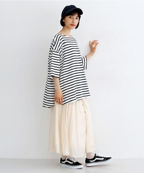 merlot(メルロー)/レーヨンスラブガーゼフロントボタンスカート/00010012-819610527462_img14