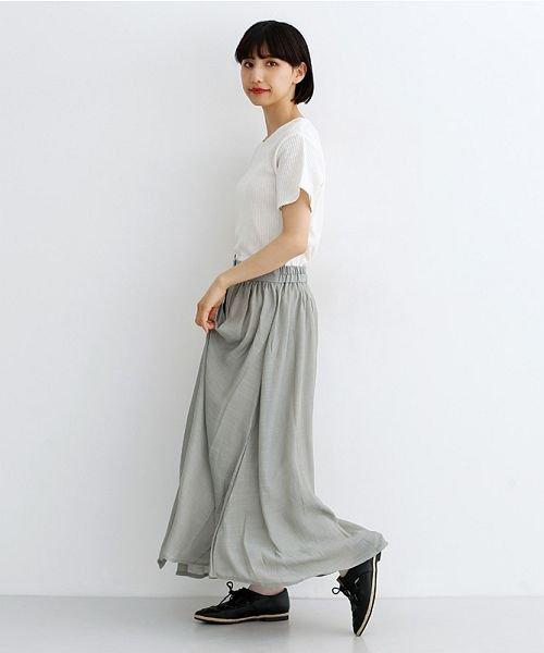 merlot(メルロー)/レーヨンスラブガーゼフロントボタンスカート/00010012-819610527462_img15