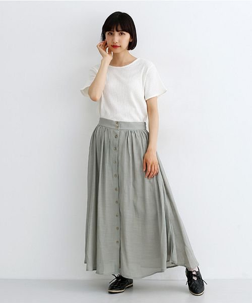 merlot(メルロー)/レーヨンスラブガーゼフロントボタンスカート/00010012-819610527462_img16