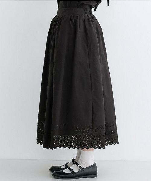 merlot(メルロー)/パネル刺繍フレアスカート/00010012-869132581792_img02