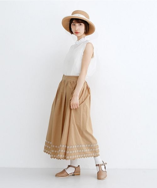 merlot(メルロー)/パネル刺繍フレアスカート/00010012-869132581792_img15