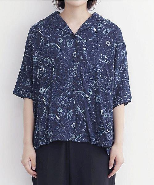 merlot(メルロー)/オリエンタルペイズリー柄オープンカラーシャツ/00010012-869212533261_img01