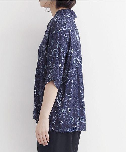 merlot(メルロー)/オリエンタルペイズリー柄オープンカラーシャツ/00010012-869212533261_img02