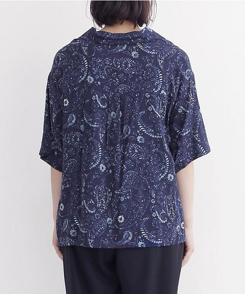 merlot(メルロー)/オリエンタルペイズリー柄オープンカラーシャツ/00010012-869212533261_img03