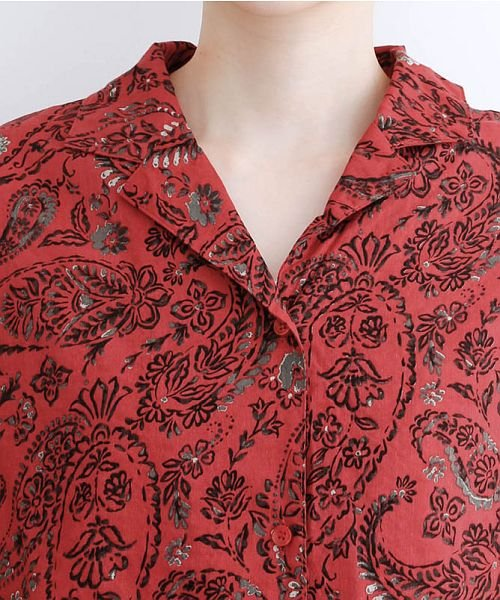 merlot(メルロー)/オリエンタルペイズリー柄オープンカラーシャツ/00010012-869212533261_img04