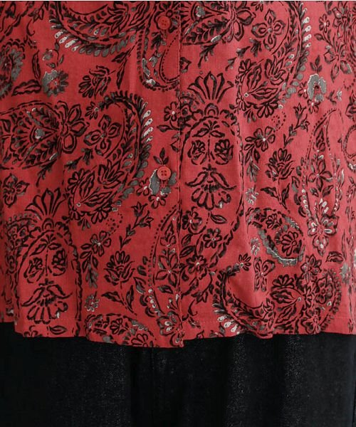 merlot(メルロー)/オリエンタルペイズリー柄オープンカラーシャツ/00010012-869212533261_img06