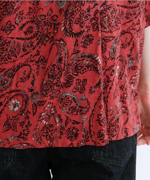 merlot(メルロー)/オリエンタルペイズリー柄オープンカラーシャツ/00010012-869212533261_img09