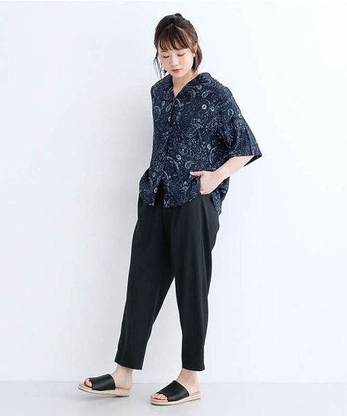 merlot(メルロー)/オリエンタルペイズリー柄オープンカラーシャツ/00010012-869212533261_img13