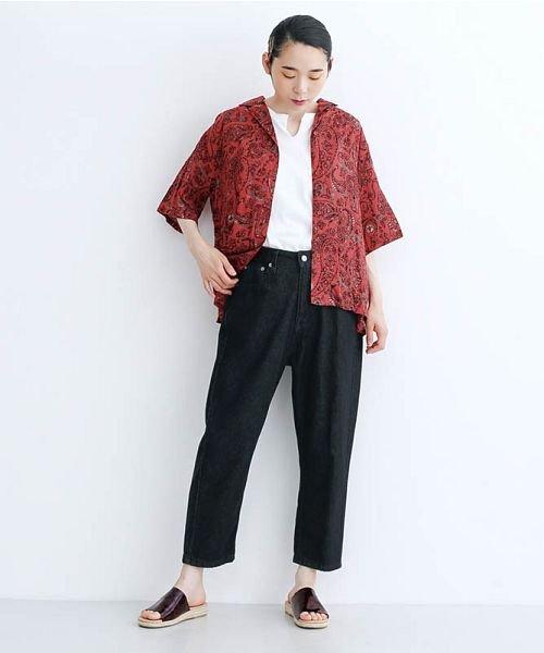 merlot(メルロー)/オリエンタルペイズリー柄オープンカラーシャツ/00010012-869212533261_img15