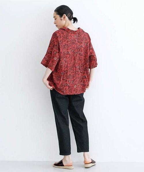 merlot(メルロー)/オリエンタルペイズリー柄オープンカラーシャツ/00010012-869212533261_img16