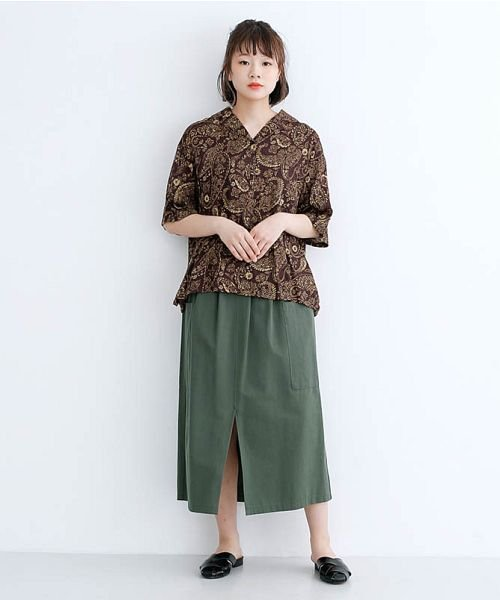 merlot(メルロー)/オリエンタルペイズリー柄オープンカラーシャツ/00010012-869212533261_img17