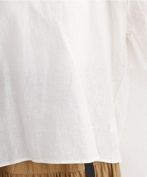 merlot(メルロー)/フリルスリーブコットンリネンブラウス/00010012-869212581906_img06
