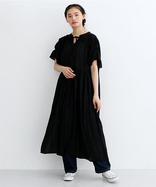 merlot(メルロー)/楊柳ギャザーボリュームワンピース/00010012-879210008561_img11