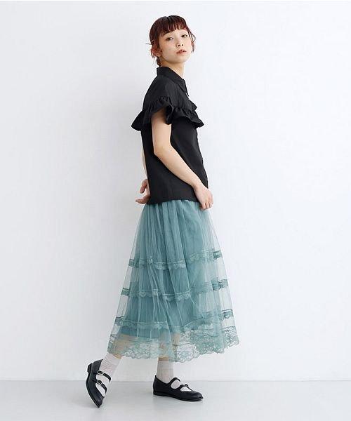 merlot(メルロー)/【plus】アシメフリルブラウス/00010012-879230008368_img11