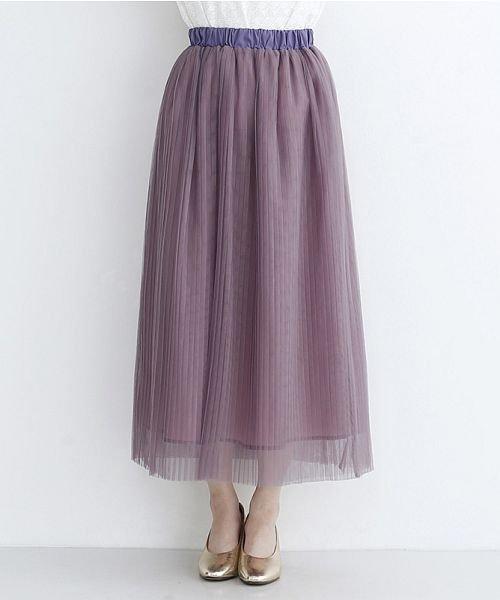merlot(メルロー)/【plus】チュールプリーツスカート/00010012-879230008448_img01