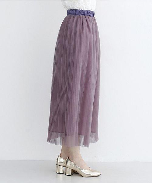merlot(メルロー)/【plus】チュールプリーツスカート/00010012-879230008448_img02