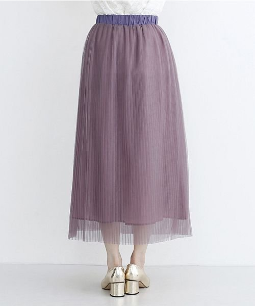merlot(メルロー)/【plus】チュールプリーツスカート/00010012-879230008448_img03
