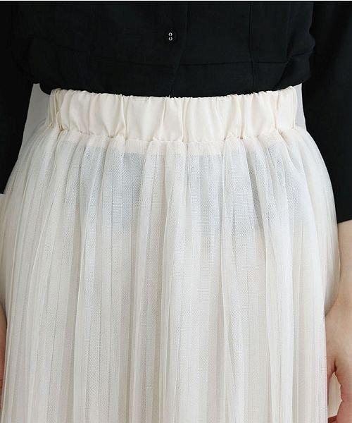 merlot(メルロー)/【plus】チュールプリーツスカート/00010012-879230008448_img04